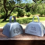 Custom printed wedding cowbell favors