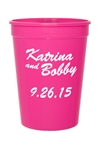 Personalized 12 oz. colored smooth stadium cup