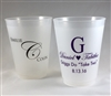 16 oz. Personalized Frosted Shatterproof Plastic Cup for Your Wedding
