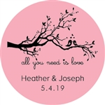 "Personalized 2"" x 2"" full color stickers for your favor bags"