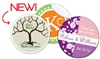 "Customize your wedding favors with these full color 3"" round label stickers"