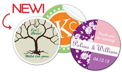 "Customize your wedding favors with these full color 2"" round label stickers"