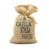 Custom printed natural jute Wedding Favor Bag
