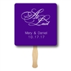 Custom double-sided fan wedding program