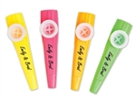 "Personalized 4"" kazoos for your wedding, party or corporate event"