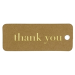 "Kraft vintage favor tags with gold ""thank you"""