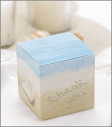 Seaside Jewels small wedding favor boxes (set of 25) for a beach or destination wedding