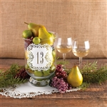 Enhance the dinner tables with these elegant laser cut table number cards 11-20