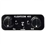 Flightcom 403 w/Jacks Stereo Intercom (6 Place)