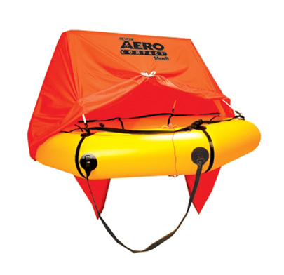 45-AC4V-K3 / 4 person Aero Compact Liferaft w/canopy & total kit