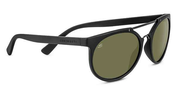 Serengeti Lerici Satin Black/Satin Black Polarized 555nm 5xMHrsBNB