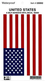 A-APX-910-08L, Usa Flag Vinyl Decal- 5 X 8- Left Hand