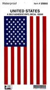 A-APX-910-08R, Usa Flag Vinyl Decal- 5 X 8- Right Hand
