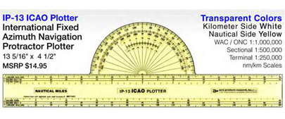 APR-IP-13, 13inch Icao Fixed Protractor Plotter