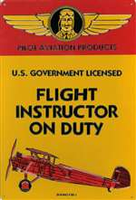 ART006 - Flight Instructor On Duty Sign