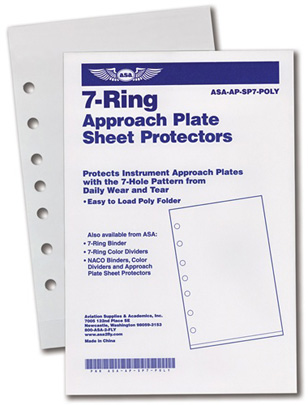 7-Ring Approach Plate Sheet Protectors