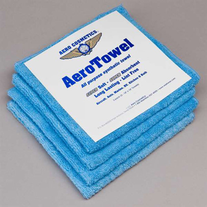 C-COS-045, Aero Towel- Microfiber Cloth- 4 Pack