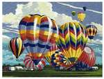 (CR-PNBL) Hot Air Balloons Paint By #