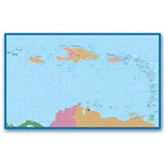 Northern and Eastern Caribbean Travel & Aviation Chart