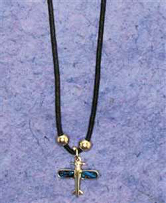 (JN-APS) Airplane Paua Shell Necklace