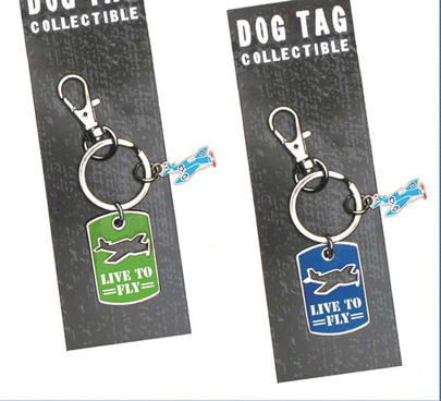 (JN-DTA) Airplane Dog Tag Necklace