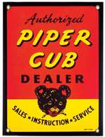 N-APX-415, Metal Sign- Piper Cub Dealer
