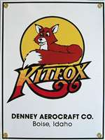 N-APX-425, Metal Sign- Kitfox- Denney Aerocraft Co.