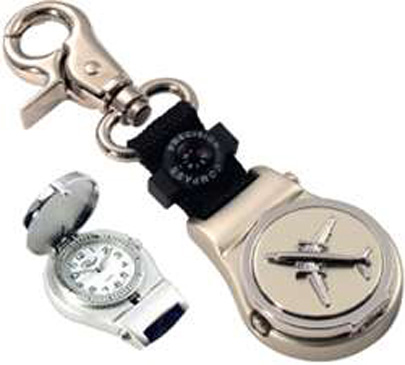 N-APX-560-SLV, Airplane Key Fob- Chain- Watch- Silver