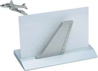 N-APX-570-SLV, Airplane Tail Business Card Holder- Slv