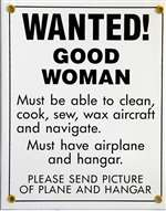 N-TRE-402, Metal Sign- Wanted! Good Woman