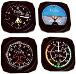 TRN-CES-9075, Coasters- Classic- Set Of 4- Cessna