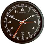 TRN-DSP01, Zulu Time Wall Clock- Black Face-  10inch