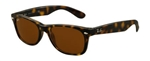 RB2132-710 New Wayfarer - Light Havana w/Crystal Brown lens