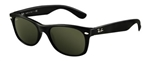 RB2132-901 New Wayfarer - Black w/Crystal Green lens