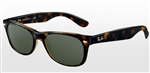 RB2132-902 New Wayfarer - Tortoise w/Crystal Green lens