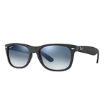 RB2132F-62423F New Wayfarer (f) - Black/top Black Alcantara w/Blue Gradient lens