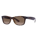 RB2132F-710/51 New Wayfarer (f) - Light Havana w/Crystal Brown Gradient lens