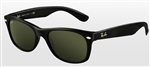 RB2132F-901 New Wayfarer (f) - Black w/Crystal Green lens