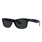 RB2132F-901/58 New Wayfarer (f) - Black w/Crystal Green Polarized lens