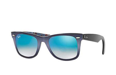 RB2140-11984O Wayfarer - Top Grad Grey On Blue w/Mirror Gradient Blue lens