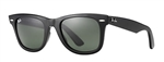 RB2140F-901 Wayfarer - Black w/Crystal Green lens