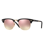 RB2176-901S7O Clubmaster Folding - Matte Black w/Copper Flash Gradient lens