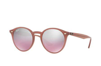 RB2180-62297E  - Opal Antique Pink w/Pink Mirror Silver Grad lens