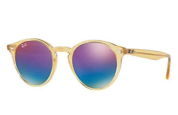 ee17fd6918 Sunglasses - Ray-Ban RB2180-6277B1 - - Shiny Yellow w Green Mirror Blue  Gradient Vio lens