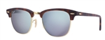 RB3016-114530 Clubmaster - Sand Havana/gold w/Light Green Mirror Silver lens