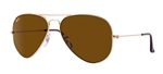 RB3025-001/33 Aviator Large Metal - Gold w/Crystal Brown lens
