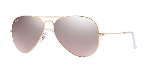 3128a73ab Sunglasses - Ray-Ban RB3025-001/3E - Aviator Large Metal - Gold  w/Crys.brown-pink Silver Mirror lens