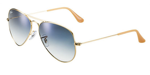 Sunglasses - Ray-Ban RB3025-001 3F - Aviator Large Metal - Gold w Crystal  Gradient Light Blue lens 523fa63fbd