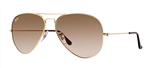 RB3025-001/51 Aviator Large Metal - Gold w/Crystal Brown Gradient lens