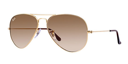 1e33adb6133 Sunglasses - Ray-Ban RB3025-001 51 - Aviator Large Metal - Gold w Crystal  Brown Gradient lens
